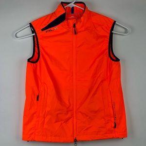 RLX Polo Ralph Lauren Orange New Vented Club Vest